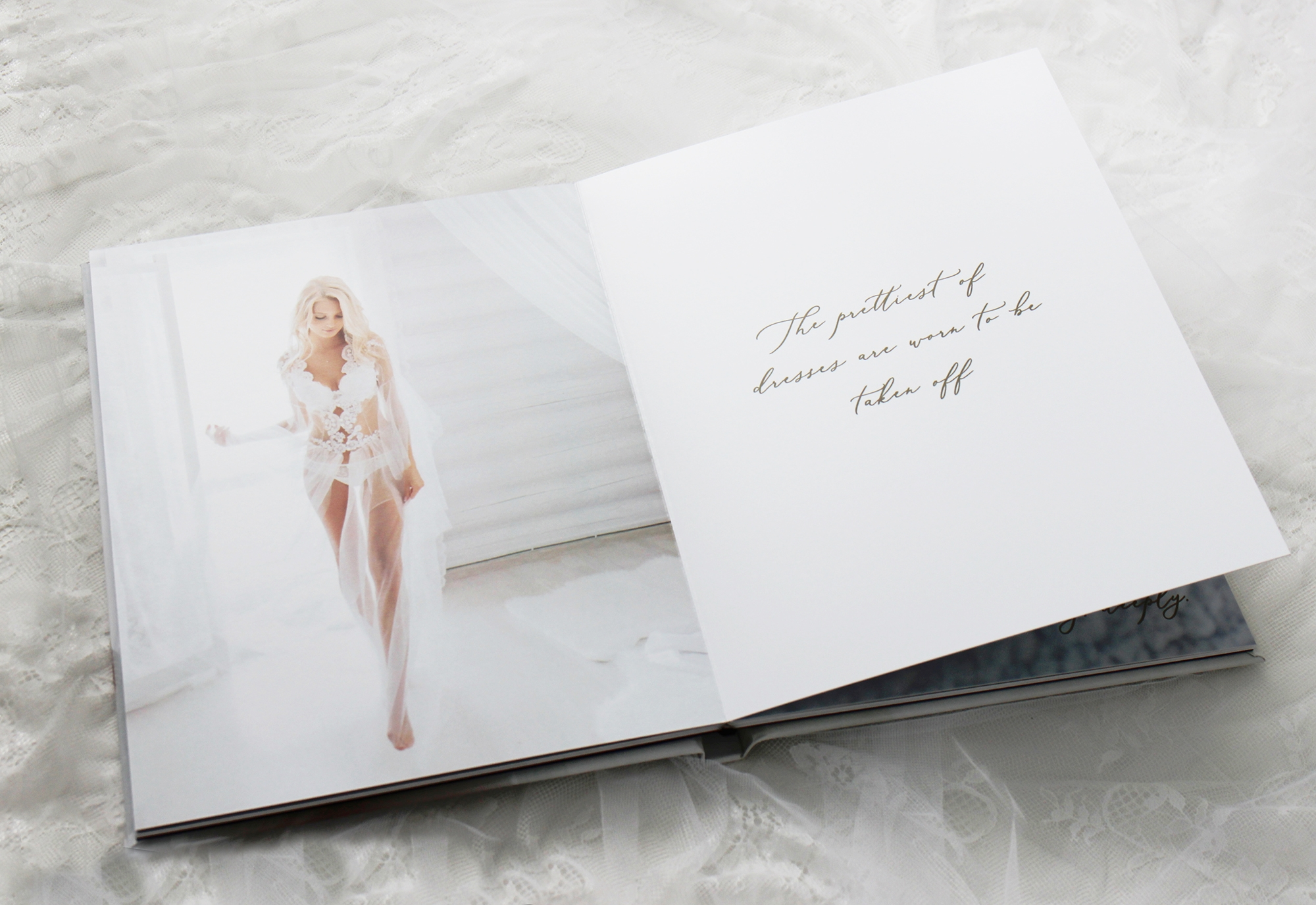 Bridal boudoir book for grooms gift